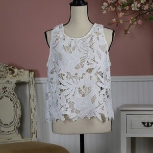 Clearance ☀️Caution to the Wind Lace Top Size M